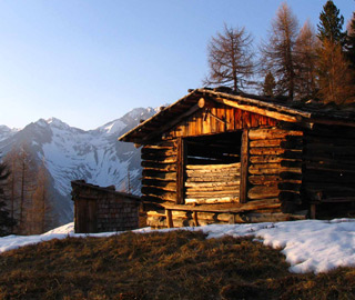 Alp in winter